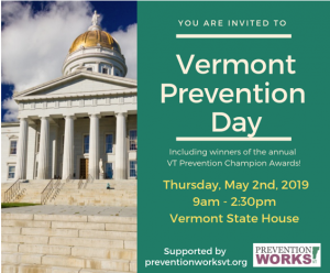 Vermont Prevention Day @ Vermont State House