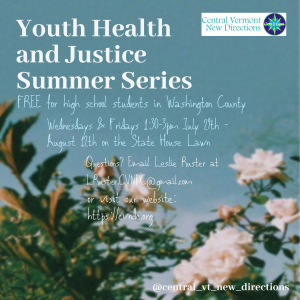 Youth Health and Justice Summer Series @ State House Lawn